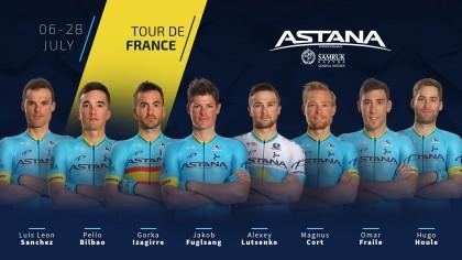Alineación del Astana Team para el Tour de Francia 2019