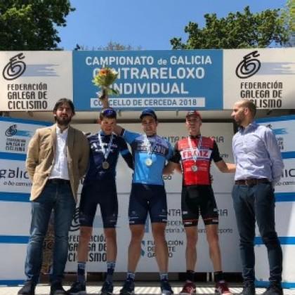 Aser Estévez revalidó su título de campeón de Galicia contrreloj