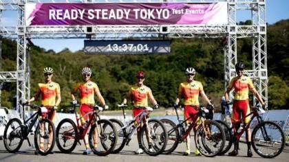 Así fue el test olímpico de la selección española de MTB en Tokio