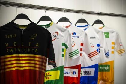 Así son  los maillots de la 99ª Volta Ciclista a Catalunya