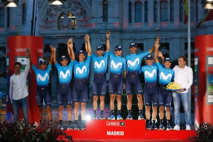 Buen balance de La Vuelta para Movistar Team con doble podio