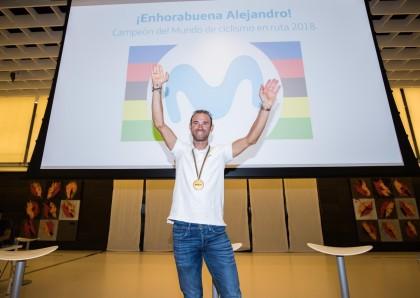 El campeón del mundo Alejandro Valverde estará en la Fiesta de la Bici Movistar