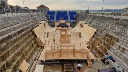 El Dique de Gamazo ya está casi preparado para Red Bull Shipyard de BMX