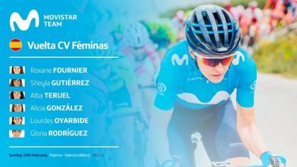 El Movistar Team femenino preparado para debutar en Calpe