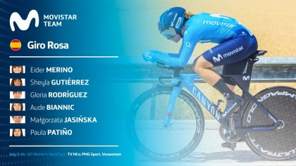 El Movistar Team preparado para el gran reto del Giro Rosa