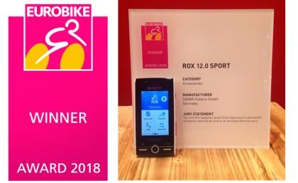 El ROX 12.0 SPORT de Sigma premiado con un EUROBIKE AWARD