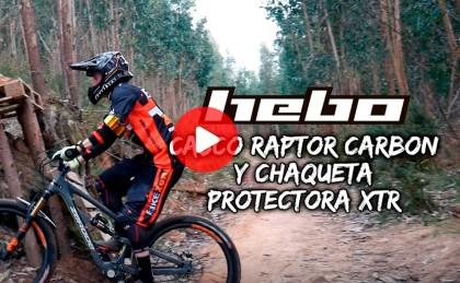 Enduro Total: casco RAPTOR CARBON y chaqueta protectora XTR de HEBO