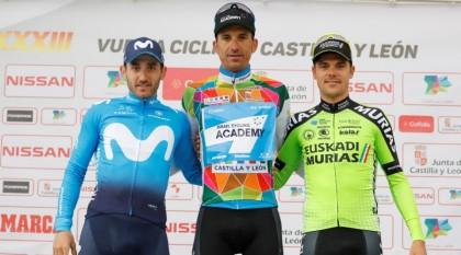 Euskadi-Murias celebra su podio en la Vuelta a Castilla y León