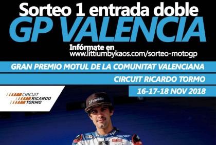 Gana una entrada doble para el GP Valencia 2018