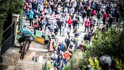 Iraitz Etxebarria y Andrea Farias, ganadores del Bilbao Downhill 2018