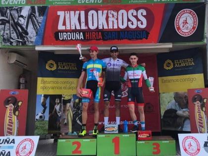 Ismael Esteban y Lucía González ganadores del ciclocross de Orduña