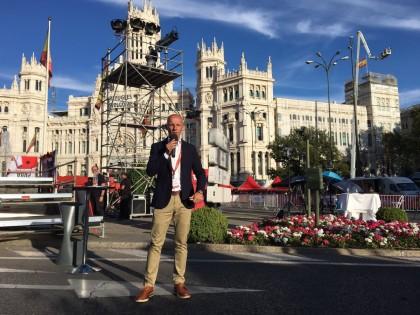 Juan Mari Guajardo, speaker de la Vuelta  Aragón 2018