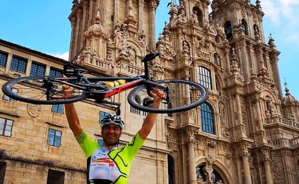 Julian Sanz logra el reto y baja de las 24h en el Camino de Santiago