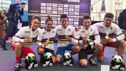 La selección debuta con oro en el Mundial de Ciclismo urbano
