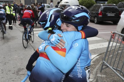 Las dos plantillas de Movistar Team , masculina y femenina serán World Tour