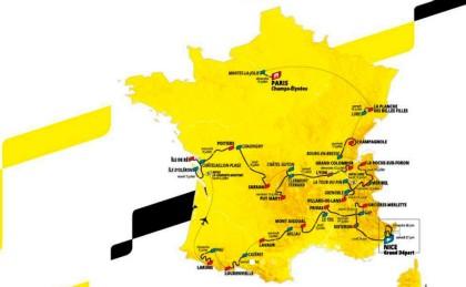 Los perfiles de las etapas del Tour de Francia 2020