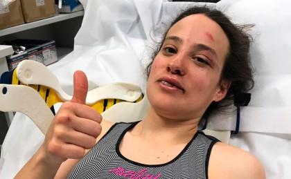 Lucía González sufre una fuerte caída en Pont-Chateau