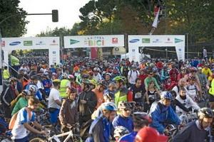 Más  de 100.000 ciclistas en la Fiesta de la Bici