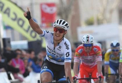 Matteo Trentin ganador de la segunda etapa de la Vuelta a Andalucía