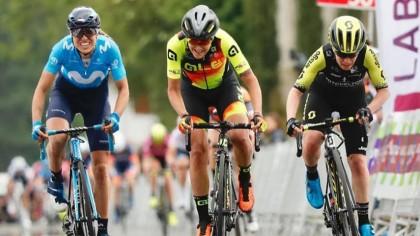 Mavi García muy cerca de la victoria de etapa en la Bira