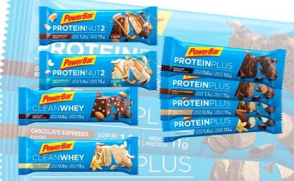 Nuevas y mejoradas barritas de PowerBar Protein Plus con alto contenido proteico