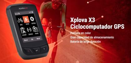 Nuevo ciclocomputador GPS Xplova X3