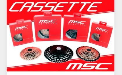 Nuevos Cassettes MSC 12V a 7V compatibles con SRAM y Shimano