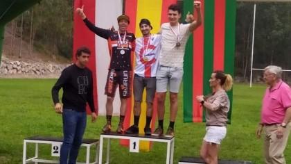 Portillo campeón de Cantabria de descenso con Díez Arriola en el podio