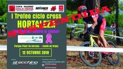 Suspendido el I Trofeo Ciclocross Hortaleza - Pedaleando Contra el Cáncer