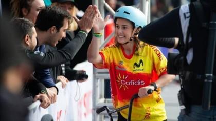 Teresa Fernández-Miranda cerca del podio en el Europeo de BMX Freestyle 2019