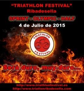 Tres distancias en el Triathlon Festival de Ribadesella