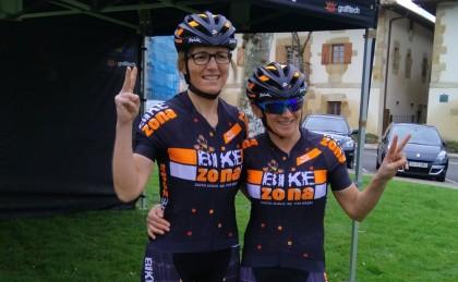 Trío bikezonero en la Volcat 2018