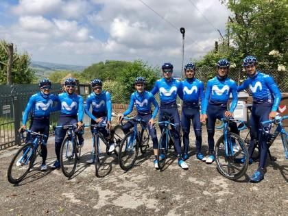 Último entrenamiento del Movistar Team antes del Giro de Italia