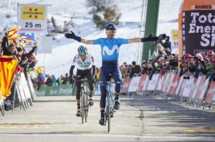 Un excepcional Alejandro Valverde recupera el liderato en La Volta