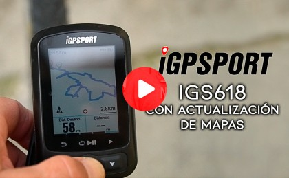 Vídeo: El Ciclocomputador iGS618 ahora con mapas