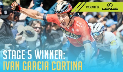 Vídeo: Iván García Cortina conquista en California la primera etapa de su carrera