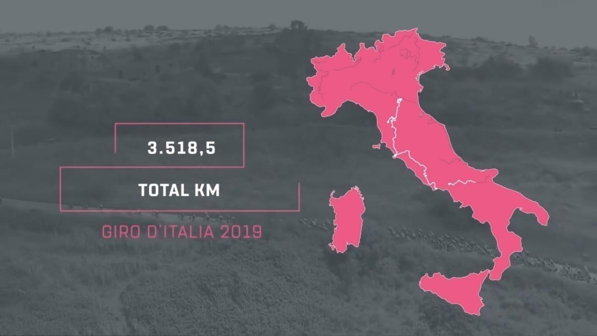 Vídeo Giro de Italia 2019: Así serán las etapas