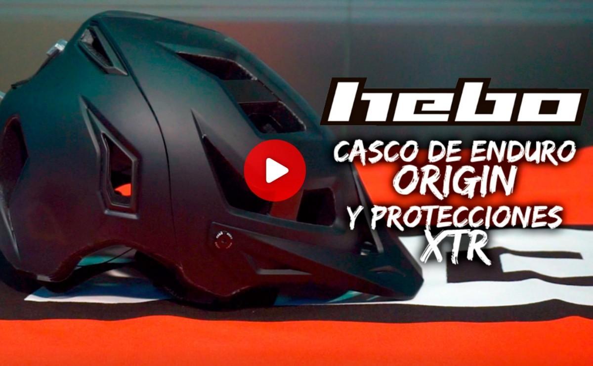 Casco Hebo ORIGIN para Enduro y protecciones XTR