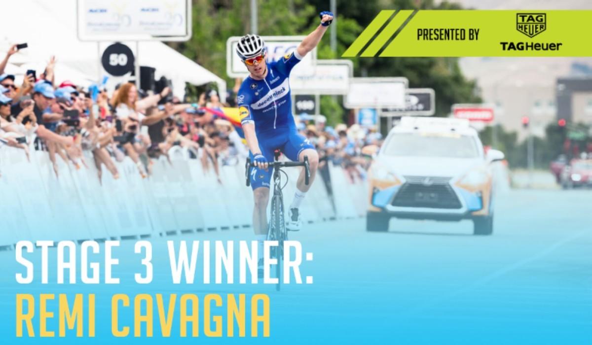 Vídeo: Resumen tercera etapa Tour de California con victoria para Rémi Cavagna