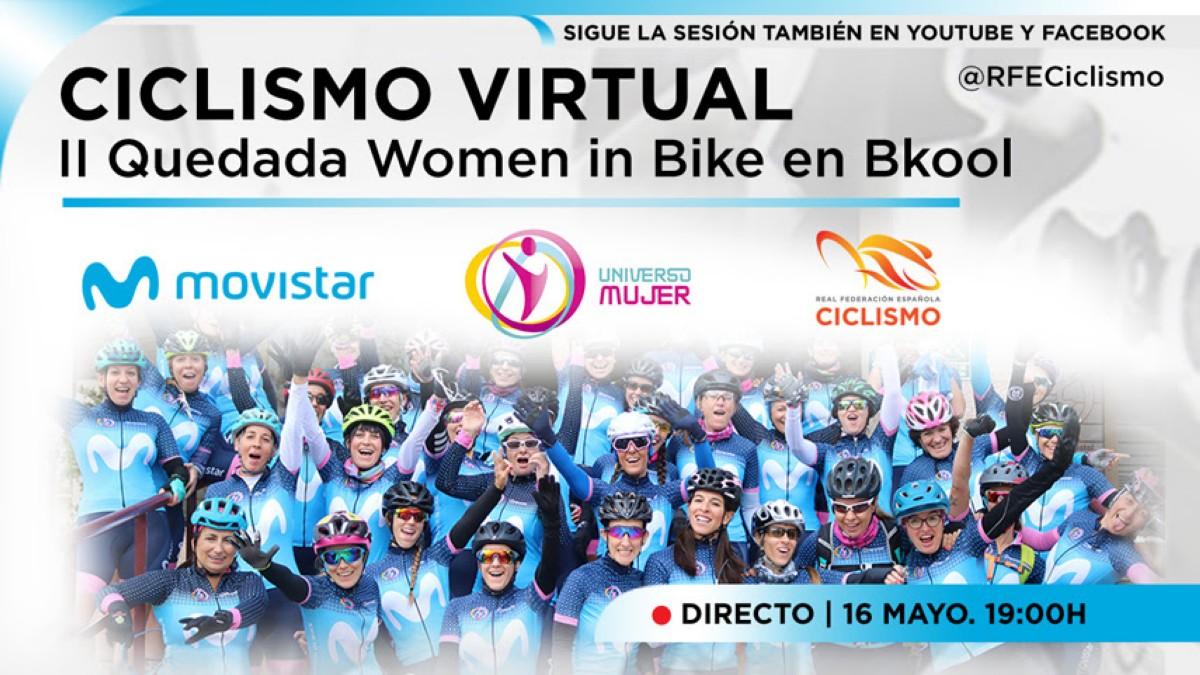 Women in Bike celebra este sábado 16 de Mayo su segunda quedada virtual