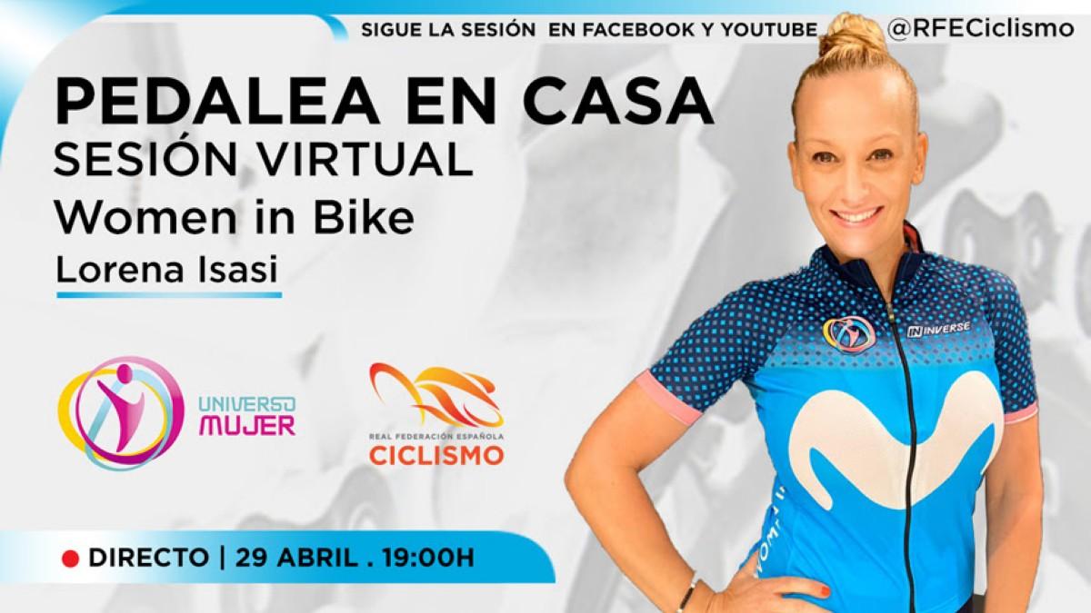 Women in bike rueda desde casa hoy miércoles a partir de las 19:00
