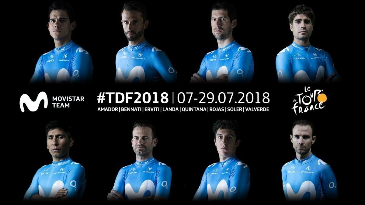 Ya tenemos la alineación de Movistar Team para el Tour de Francia 2019